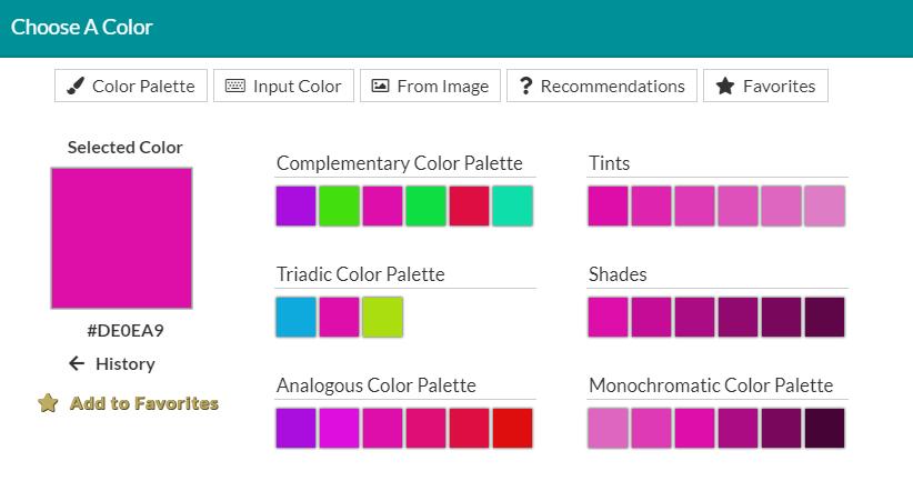 Details Color Picker Recommendations