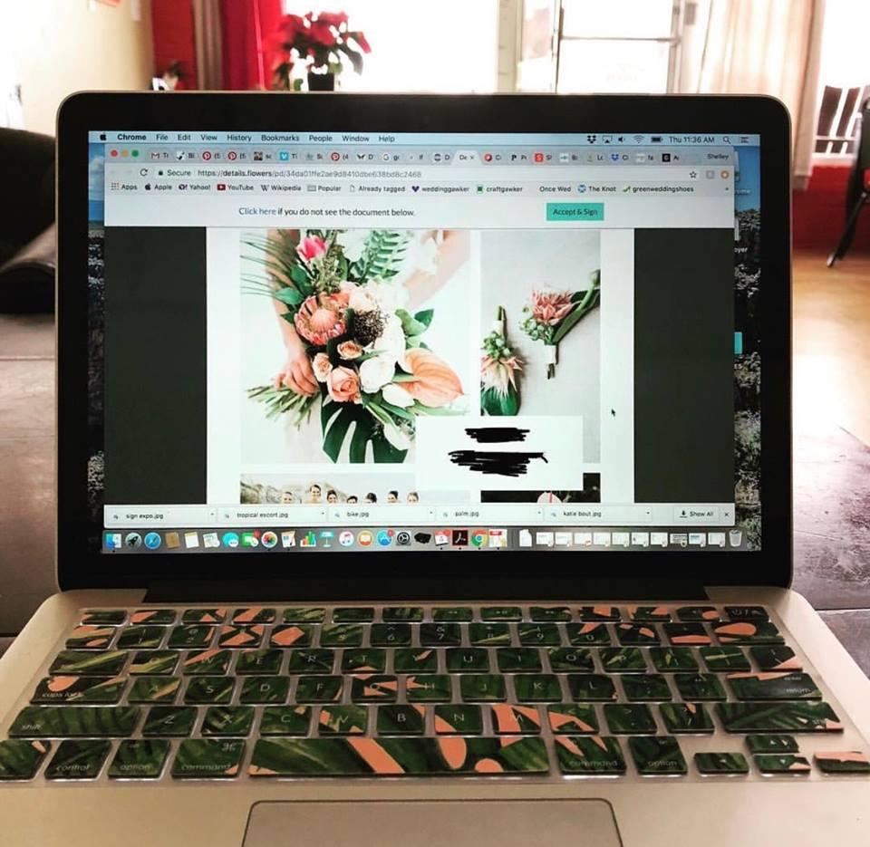 Details Flowers Tropical Proposal